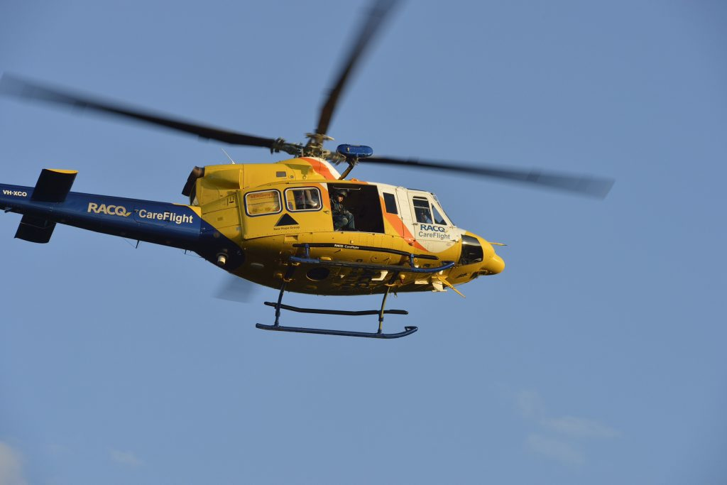 BUSY WEEKEND: Two men were airlifted after being injured in separate incidents at the weekend.