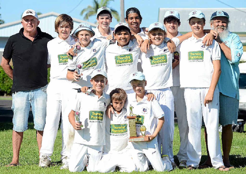 CELEBRATION TIME: Ballina Bears under-14s after winning this season's Ballina and District Junior Cricket Association grand finals.