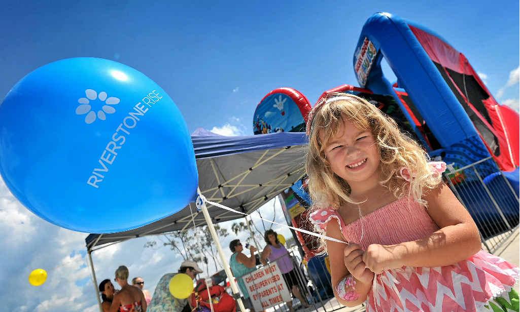 BRIGHT FUTURE: Jemima Freeman, 3, enjoyed the sunshine during the Riverstone Rise family fun day.