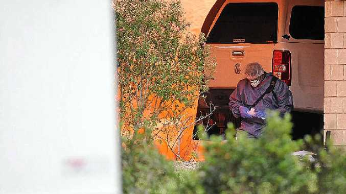 DUAL TRAGEDY: Police at the scene of a murder-suicide in Glasshouse Mountains.