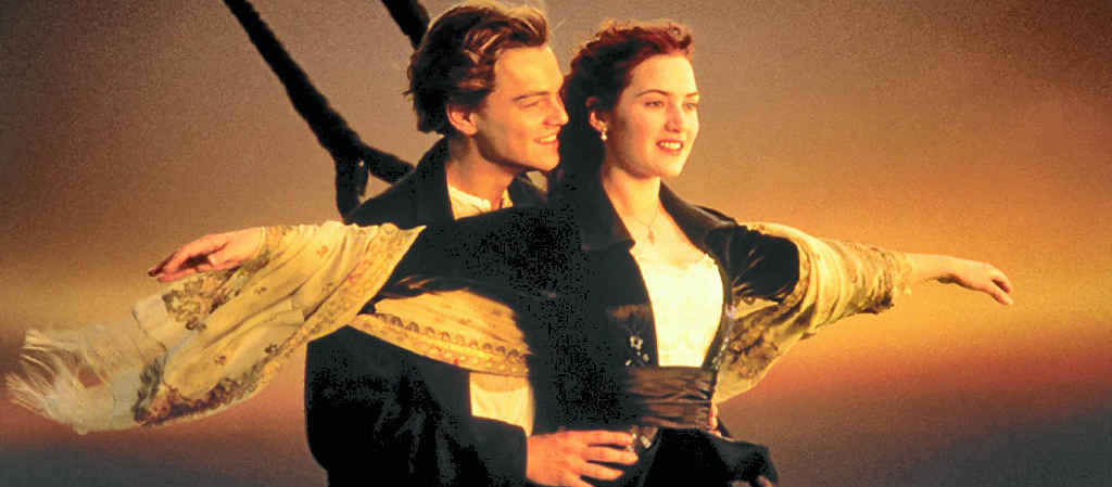 A scene from James Cameron's film Titanic.