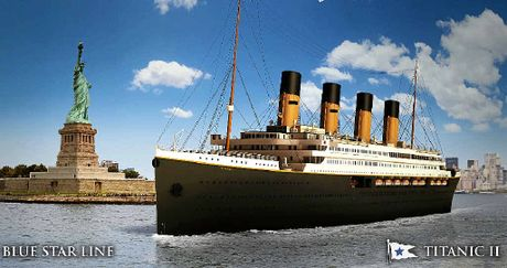 STILL AFLOAT: Plans for Clive Palmer's The Titanic II, which will be a replica of the original ship, are still full steam ahead.