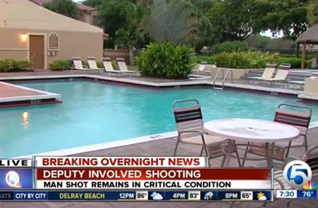 A man was shot by an off-duty deputy at a Florida resort. Image: WPTV