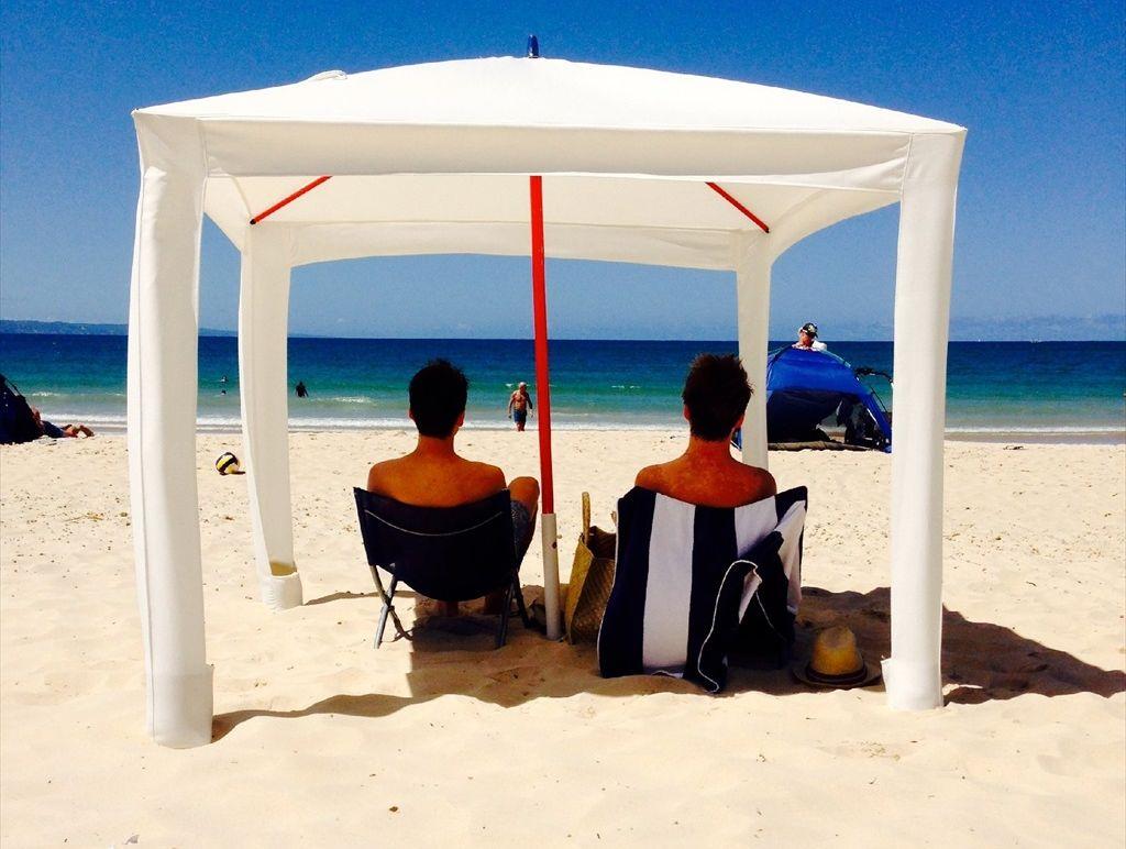 Mark Fraser has designed the Cool Cabana, seen here on Noosa Main Beach.