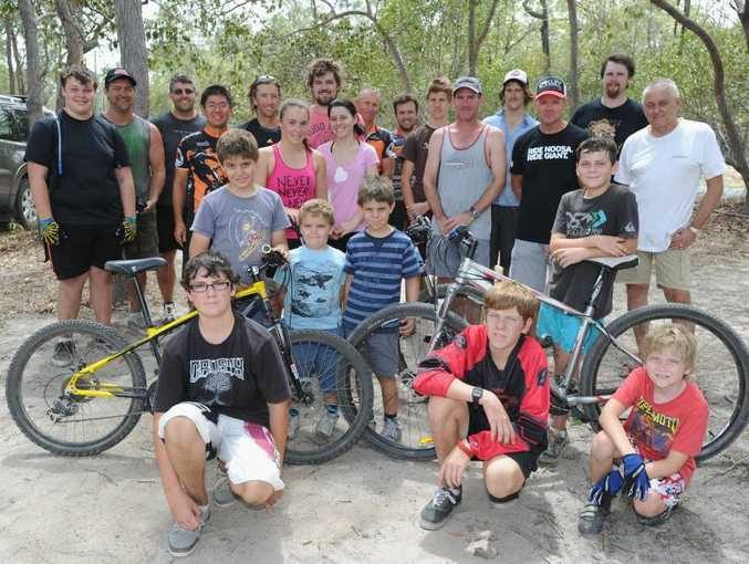 Members of the Fraser Coast Mountain Bike Club.