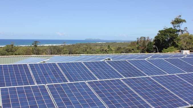 New 300 panel solar array installed at Ocean Shores Country Club.