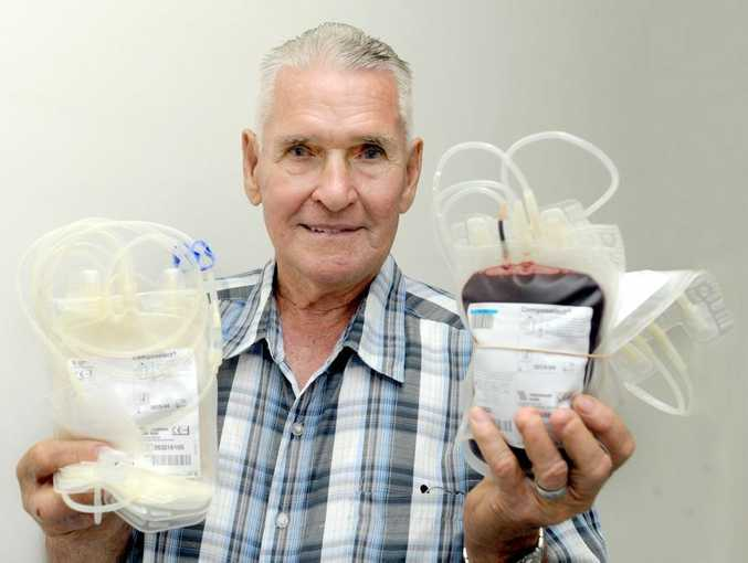 After 133 blood donations, Maryborough's Alan Schiefelbein has earnt his donor retirement on his 81st birthday.