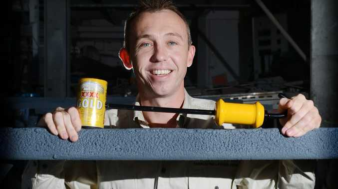 Bill Fry of Lismore with his invention