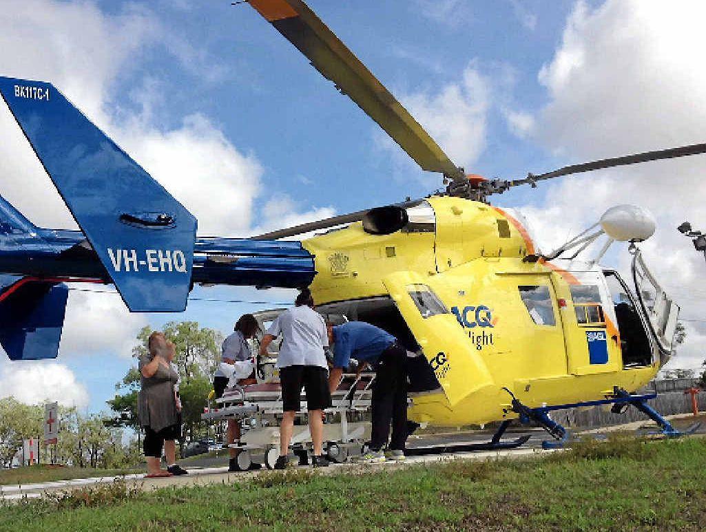 CRASH RESCUE: The Bundaberg RACQ CareFlight crew flew to Mundubbera to transfer a 19-year-old man injured in a motorcycle crash.