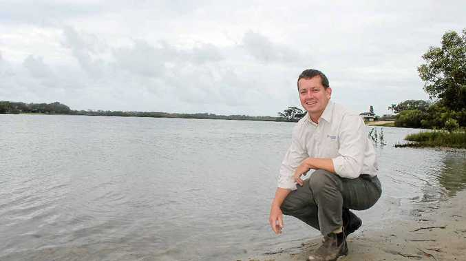 HAVE A SAY: Hydrosphere Consulting managing director Mick Howland at Ballina's Shaws Bay. The council has engaged the firm to form a new management plan for the bay.