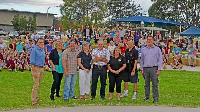 COMMUNITY BACKING: Scripture Union area manager David Jutsum, district co-ordinator Yasmin Hadfield, school chaplains Daniel Ratcliffe and Donna Angell, SU Chief executive Peter James, school chaplains Marie Brennan and Jason Skinner with Mayor Peter Blundell.