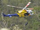 Rescued man in good spirits after spending night in bushland