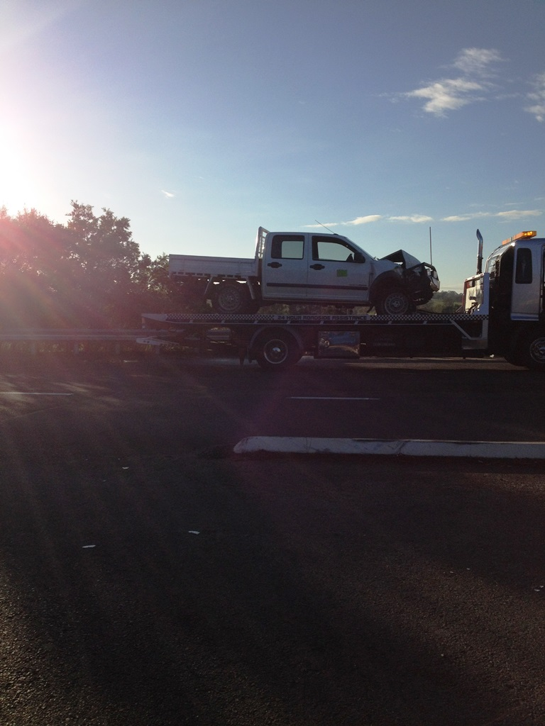 A car accident on Grafton Bridge on Tuesday morning caused traffic delays.