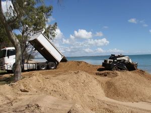 Sand pile moved, council considers work to protect beaches
