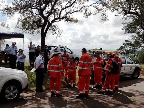 State Emergency Service volunteers and police prepare to resume a search for an elderly man missing in bushland near Toowoomba.