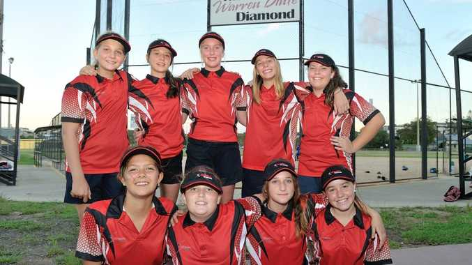 Gladstone U15 Girls softball team, the first the association has had in 16 years.