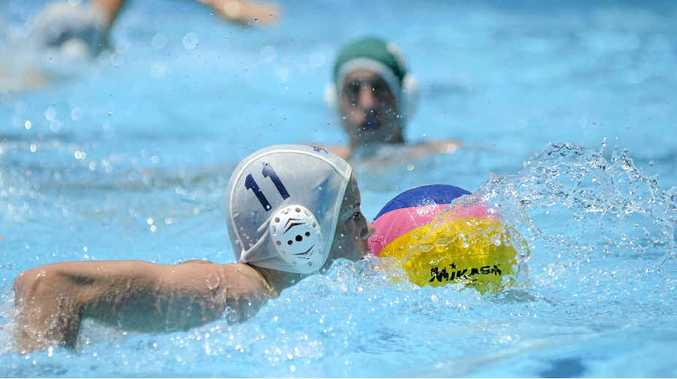 STATE CHAMPS: Liam Hair (white cap) helped lead Alstonville to a win in the NSW CHS Knockout Water Polo final.