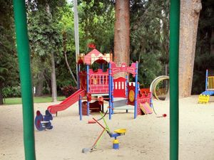 Boy hurt by pins found in play area