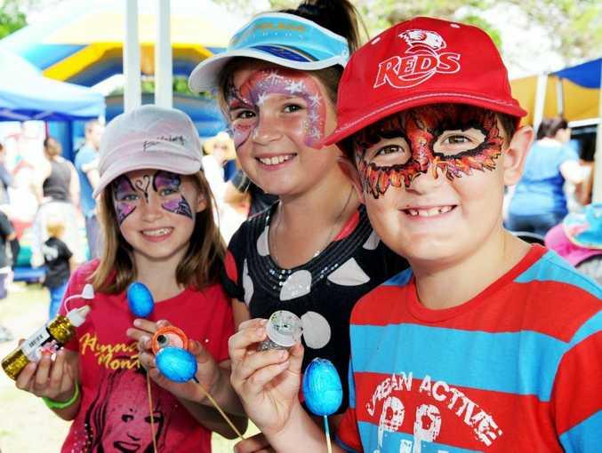 Tahmya Morton-Block, Ella and Will Block at last year's Easter Family Fun Day, Scarness Park.