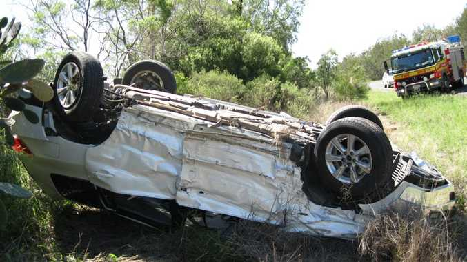 The occupants of a Toyota Kluger were taken to hospital with non life threatening injuries after a head-on crash on the Gore Hwy, west of Millmerran.