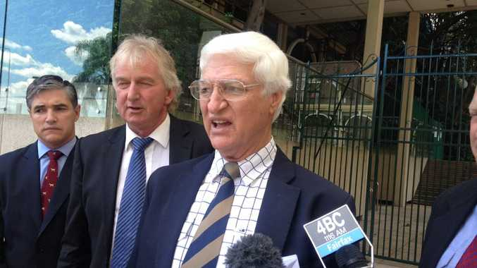 Right to left: Katter's Australia Party Leader Bob Katter, Condamine MP Ray Hopper and Mt Isa MP Robert Katter.