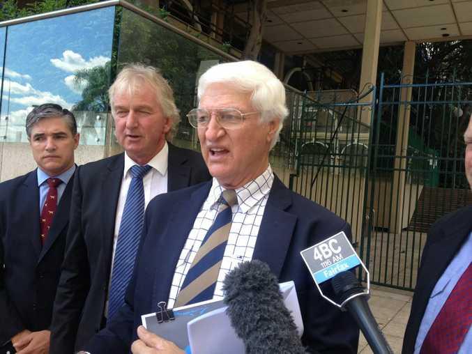 Right to left: Katter's Australia Party Leader Bob Katter, Condamine MP Ray Hopper and Mt Isa MP Robert Katter.