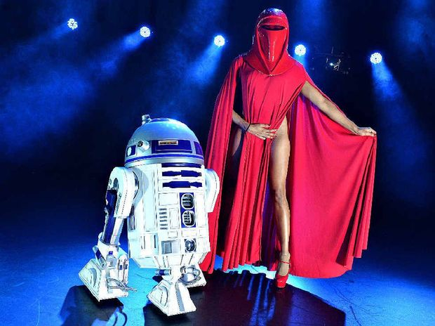 Imperial Guard Zelia Rose poses with R2D2 before a burlesque show at the MECC earlier this year.