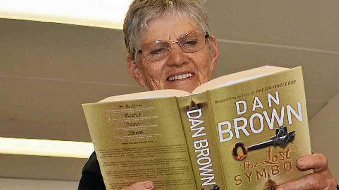 LIGHT READING: Zonta Club member Mary Johnstone enjoyed some light reading ahead of the Zonta Club Bookfest tomorrow.