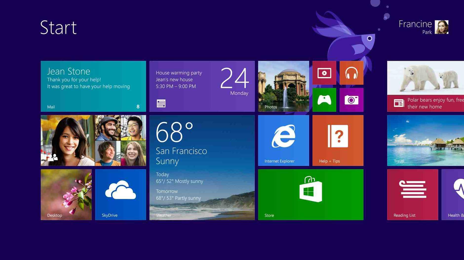 Microsoft Windows 8.1 operating system.