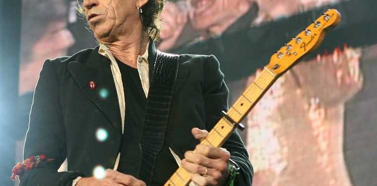 Keith Richards of The Rolling Stones.