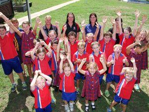 McIlwraith school celebrating after winning 10 iPads