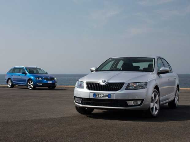 The Skoda Octavia wagon and sedan.