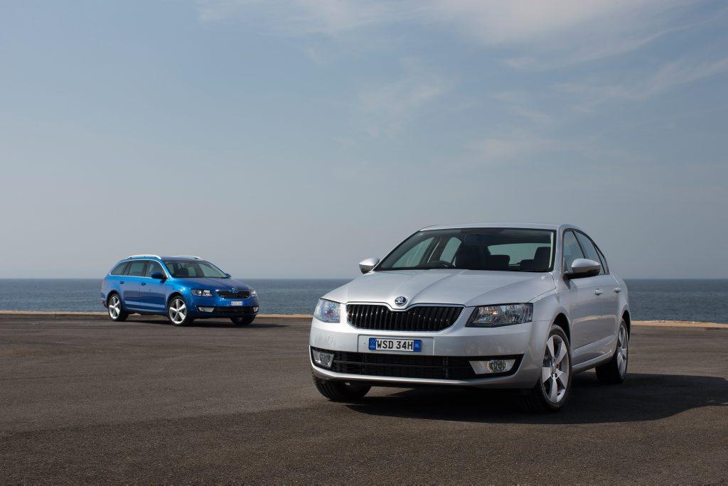 The Skoda Octavia wagon and sedan.