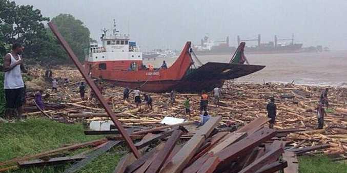 Flash flooding has caused devastation in Honiara in the Solomon Islands.