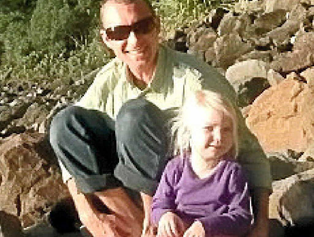 FAREWELLED: Eeva Dorendahl-Hutchings and father Greg Hutchings.
