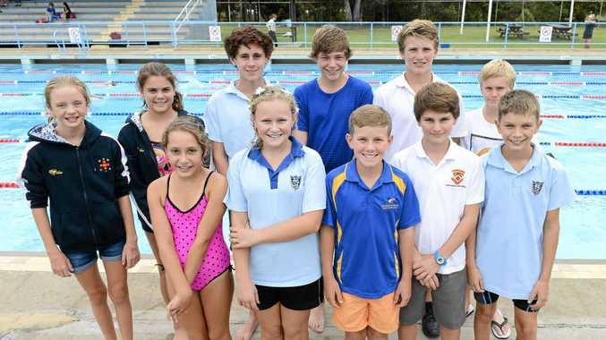 SCHOOL OF SUPERFISH: Grafton Swim Academy swimmers off to state swimming titles. PHOTO: ADAM HOURIGAN