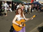 Grace Drummond entertains the crowd at the Margaret Street CBD Markets.
