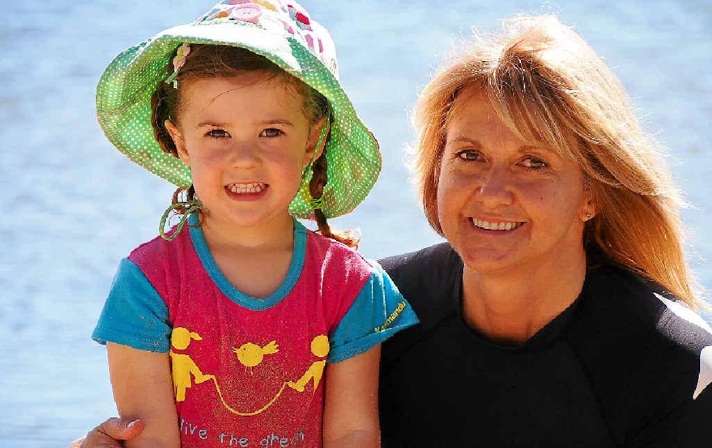 Janene Stanley and her granddaughter Violet Cann, 4.