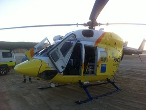Man airlifted after crashing motorbike on beach