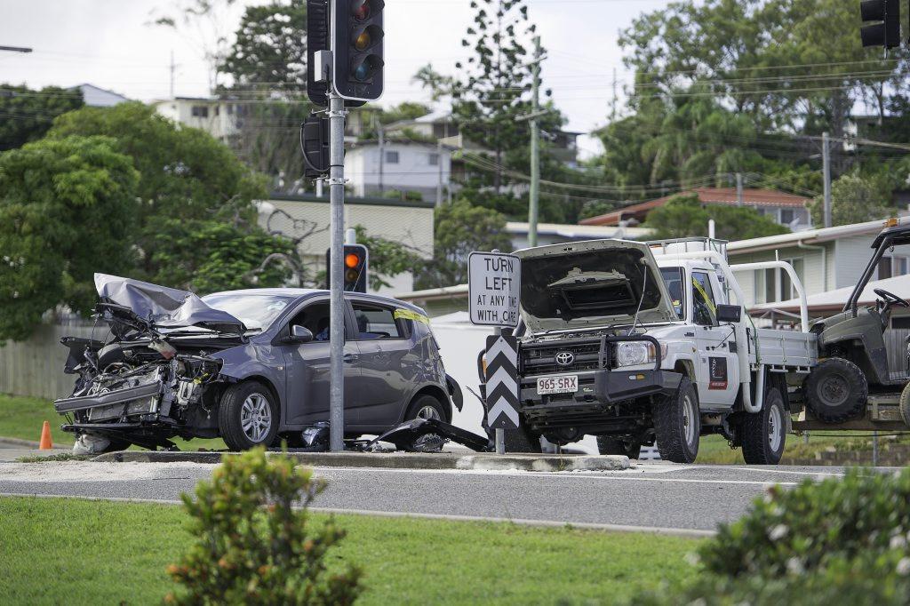 A crash at a Dawson Hwy intersection.