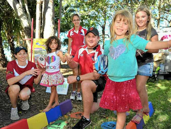 Former NRL star Steve Southern talks about the League and Learn program to local kids.