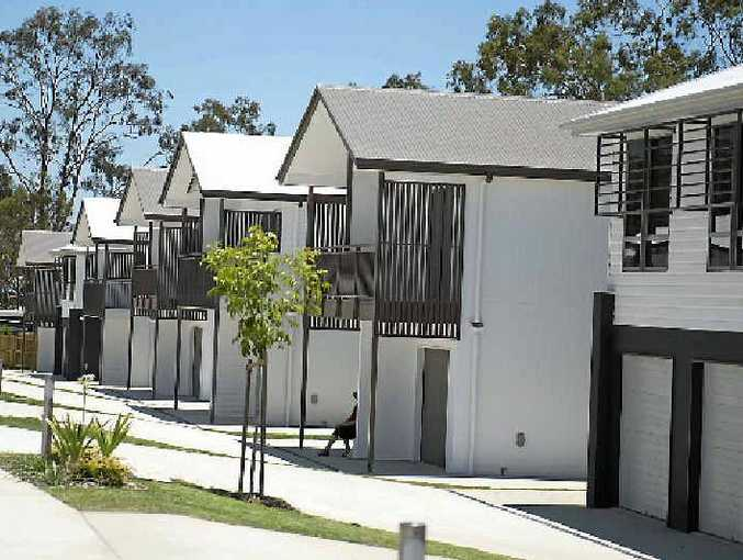 TAKE A LOOK: Townhouses for sale at the Glen Eden Mews Estate.