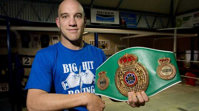 Josh Webb steps into the ring with Damien Hooper in Toowoomba on March 14.