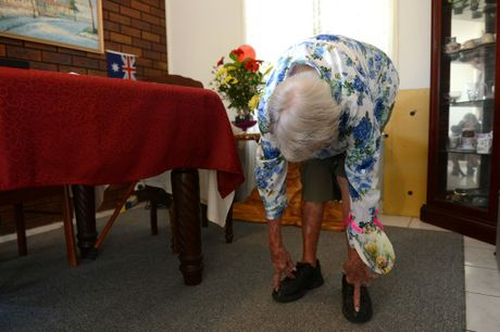 Marjorie Elizabeth Lucy Bostock turned 105 on April 2. Photo: Sarah Harvey / The Queensland Times