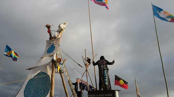 Bentley Blockadem, April 7 2014. Photo: Mireille Merlet-Shaw/The Northern Star