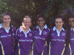 Young team in Relay to combat cancer