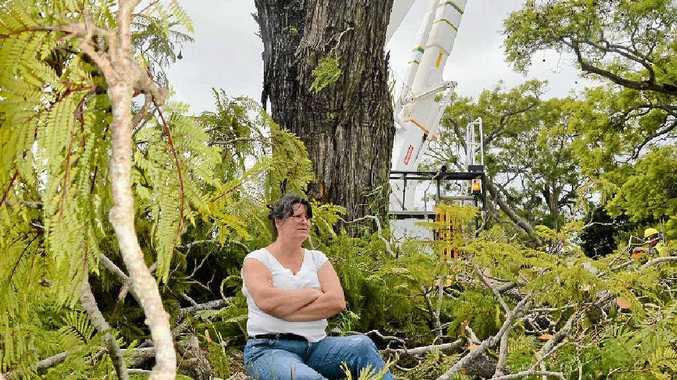 STAND: Ursula Tunks refuses to move. Photo: Georja Ryan