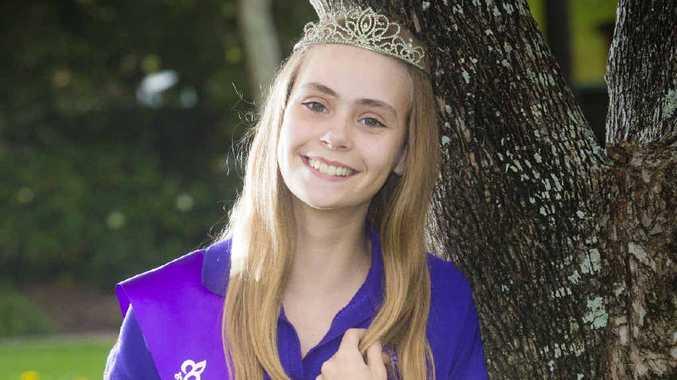AMAZING: 2013 Junior Jacaranda Queen Claire Smidt, 14. Photo Adam Hourigan