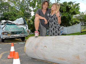 VIDEO: Gumtree crushes duo's van and livelihood