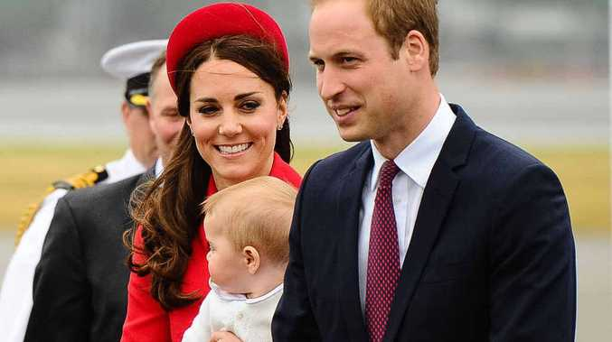 POPULAR FAMILY: Prince William and his wife Catherine, holding baby Prince George, in New Zealand this week. They will attend a function in Brisbane next Saturday, hosted by Allora's Laura Geitz (right).